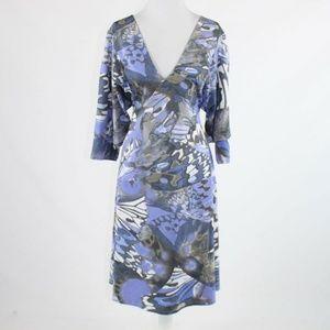 Blue CLIPS TRICOT A-line dress IT46 1